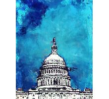 Stormy Weather Over The Capitol Photographic Print
