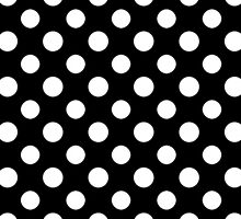 Black and White Polka Dot Pattern by sale