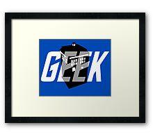 Geek My Ride- TARDIS Framed Print