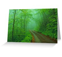 BALSAM MOUNTAIN ROAD Greeting Card