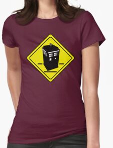 TARDIS Crossing Womens Fitted T-Shirt