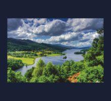 Looking over Loch Tummel Kids Tee