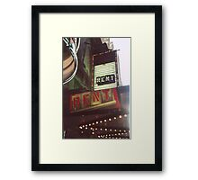 Rent Framed Print