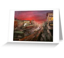 City - NY - Rush hour traffic - 1900 Greeting Card