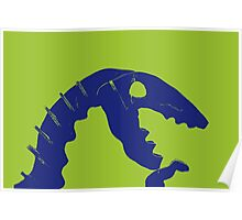 Dino Roar in Blue Poster
