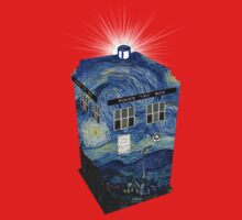 TARDIS Illustrated- Starry Night Kids Clothes