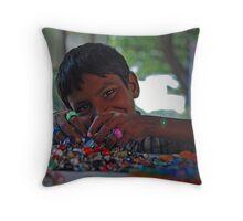 Prakash - Bangle Seller Throw Pillow