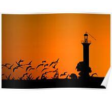 Autumn Silhouettes Poster