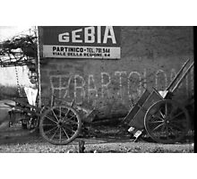 Old Photo found in Milazzo - Sicilian Handcart Photographic Print