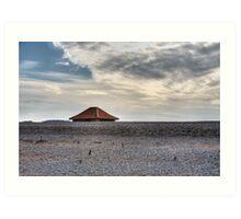 Blakeney Beach Hut Art Print