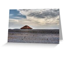 Blakeney Beach Hut Greeting Card