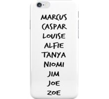 British Youtubers Name List iPhone Case/Skin