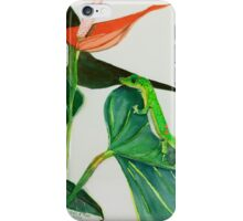 The Green Gecko iPhone Case/Skin