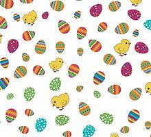 Easter Chicks and Eggs by nickarlardo