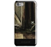 how the past holds iPhone Case/Skin