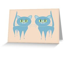A PAIR OF PURRING CATS Greeting Card