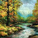 "River in the golden forest by "" RiSH """
