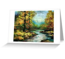 River in the golden forest Greeting Card