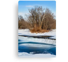 Icy Swirling Waterfall Canvas Print