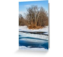 Icy Swirling Waterfall Greeting Card