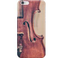 Vintage Violin Portrait iPhone Case/Skin