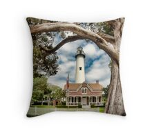 St. Simons Island Lighthouse  Throw Pillow