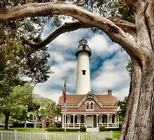 St. Simons Island Lighthouse  by Brent Craft