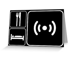 Eat Sleep WiFi Greeting Card