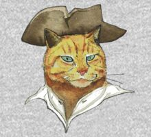 Pirate Cat Face One Piece - Short Sleeve