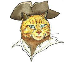 Pirate Cat Face Photographic Print