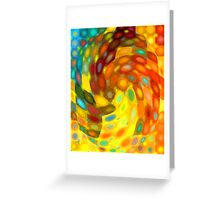Swirling Wall Greeting Card