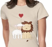 The lion and the lamb Womens Fitted T-Shirt