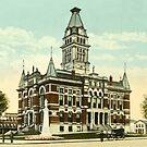 Washtenaw Co. Courthouse, Ann Arbor, MI 1910 by Bob Fox