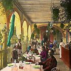 Restaurant - Waiting for service - 1890 by Mike  Savad
