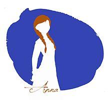 Anna Frozen silhouette art by MariondeLauzun
