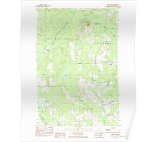 Maine USGS Historical Map Mud Lake 102794 1985 24000 Poster