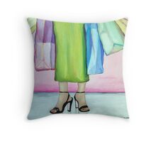 Bag Lady Throw Pillow