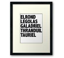 The Great Elves Framed Print