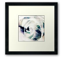White Ice Framed Print