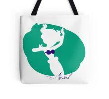 Ariel Little Mermaid silhouette Tote Bag