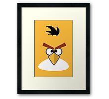 Yellow and Angry Framed Print