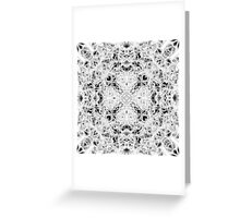 """""""Spirit of India: Fleur and Cross"""" in white, grey and black Greeting Card"""