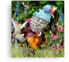 Naughty Gnome and Friends Canvas Print