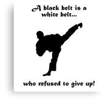 Black belt Refusal Canvas Print