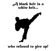 Black belt Refusal Photographic Print