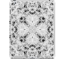 """""""Spirit of India: Fleur and Cross"""" in white, grey and black iPad Case/Skin"""