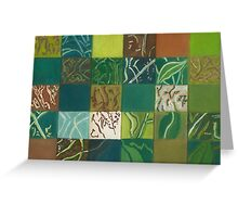 Euca Abstract (Flat Detail Section 1) Greeting Card