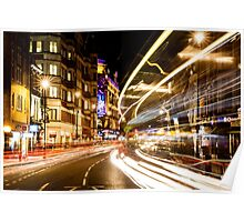 Bright lights of London Poster