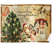 Vintage Christmas Collage Poster