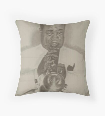 Louie Armstrong Throw Pillow